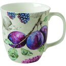 DELICIOUS PLUMS linen Bone China Country Becher