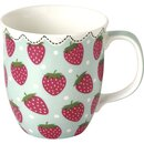 IHR MY LITTLE STRAWBERRIES li.blue Bone China Country Becher