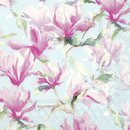 IHR MAGNOLIA POESIE light blue Lunch-Servietten