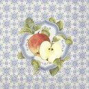 IHR FALL MEDALLION Lunch-Servietten 33 x 33 cm blau