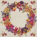 IHR AUTUMN WREATH Lunch-Servietten 33 x 33 cm leinen