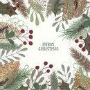 IHR NATURAL MERRY CHRISTMAS Lunch-Servietten 33 x 33 cm weiß